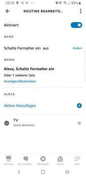 Alexa Routinen Switchbot Scene aufrufen